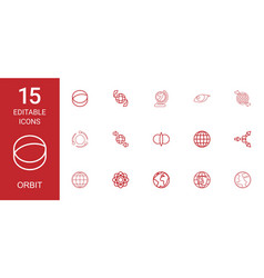 orbit icons vector image