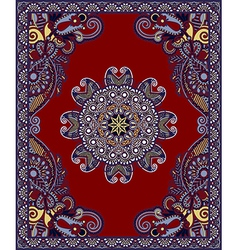 Oriental Floral Ornamental Carpet Design vector