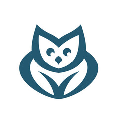 owl abstract sign vector image
