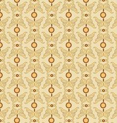 pattern yellow Retro vector image