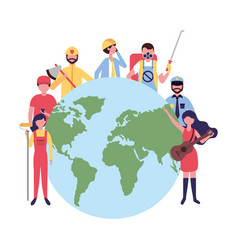 people group world international labor day vector image