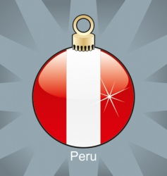 Peru flag on bulb vector image vector image