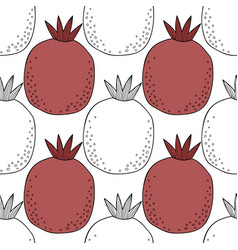 Pomegranates black and white for vector