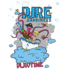 pure happiness - playtime vector image