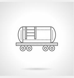 Railroad fuel tank flat line icon vector