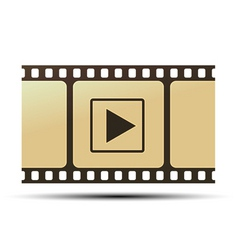 reel with play icon vector image
