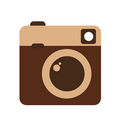 retro camera photographic isolated icon vector image