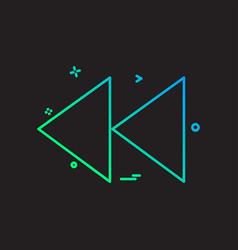 rewind icon design vector image