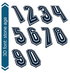 Rotated smooth dimensional numbers geometric vector