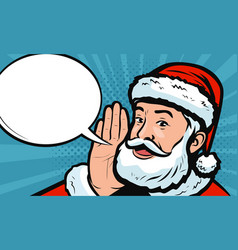 santa claus says in style retro comic pop art vector image