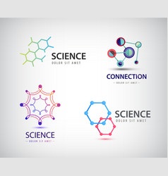 Science logos chemistry icons biology vector