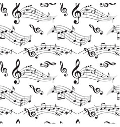 Seamless pattern with music notes - background vector
