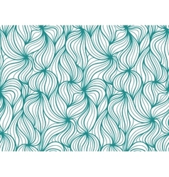 seamless wave background of plants drawn vector image