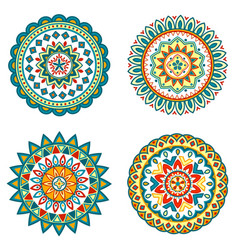 Set of colorful mandalas vector