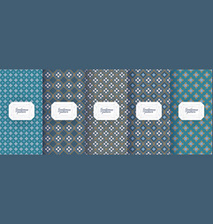 Set seamless patterns for men s clothing ties vector