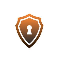 shield guard lock logo icon vector image