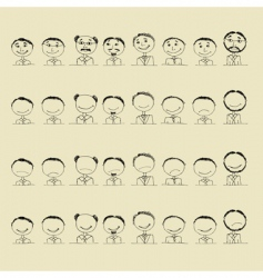 smile icons vector image
