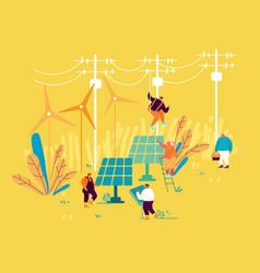 Sustainable energy development environmental and vector