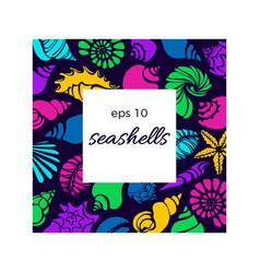 template seashell 33 vector image