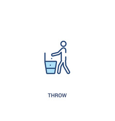 Throw concept 2 colored icon simple line element vector