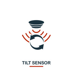 Tilt sensor icon from sensors icons collection vector