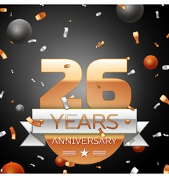 Twenty six years anniversary celebration vector image
