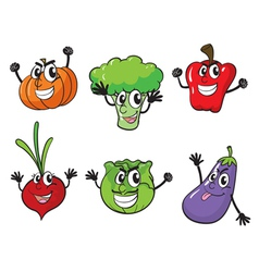 Various vegetables vector