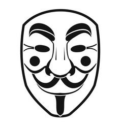 Vendetta mask icon simple style vector