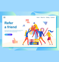 Web page friend sharing vector