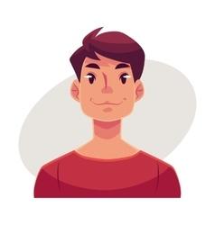 Young man face neutral facial expression vector