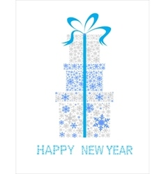 Christmas background with boxes made snowflakes vector image vector image
