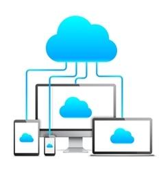 Cloud technology concept vector