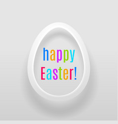 easter egg with multicoloured words happy easter vector image