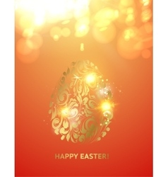 Easter egg with spheres of bokeh vector image