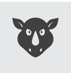Rhinoceros icon vector image