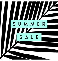 Summer Sale Poster Design vector image vector image