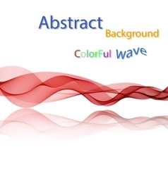 Abstract colorful smoky waves on mirror vector image