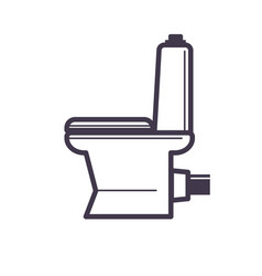 flush toilet icon sanitation porcelain fixture vector image vector image