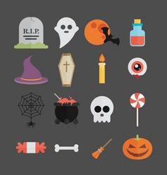 halloween symbol set vector image vector image