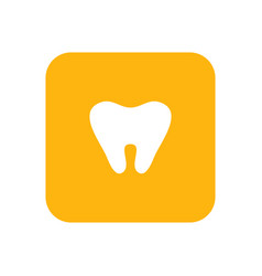 milk tooth flat color icon baby items for vector image vector image