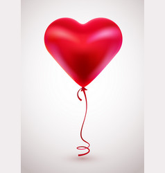 red balloon in form of heart on light background vector image vector image