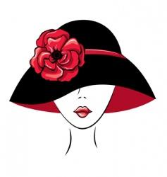woman in vintage hat vector image