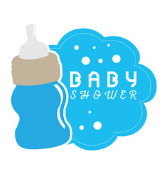baby shower label vector image vector image