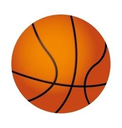 basketball ball isolated icon vector image vector image