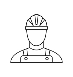 Builder icon outline style vector image vector image