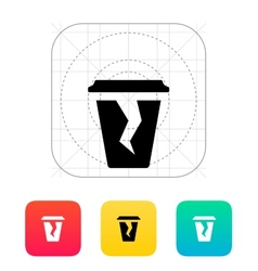 Damaged cup icon vector image vector image
