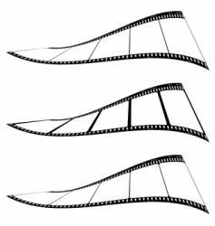 photo film strip twist vector image vector image