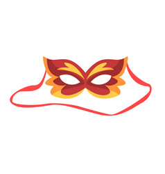 red carnival mask celebration party symbol vector image vector image