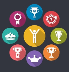 Rewards and Trophy Signs vector image