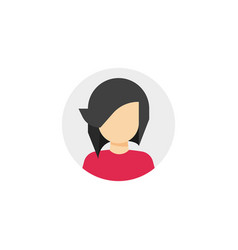 woman face in circle icon vector image vector image